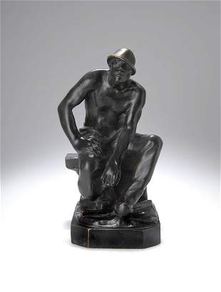 Constantin Meunier, 'Rastender Puddler', 1890