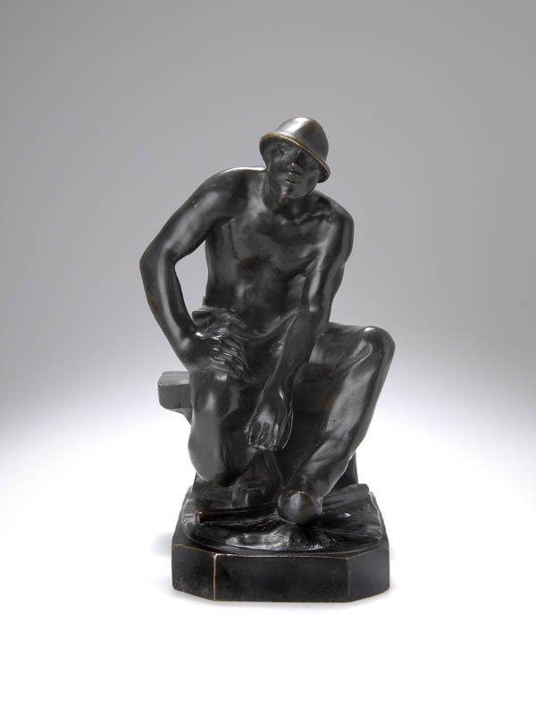 19: Constantin Meunier, 'Rastender Puddler', 1890
