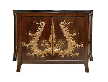 753: August Endell, Sideboard, around 1899