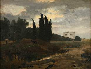 Emil Lugo attributed, Italian Landscape, around 1