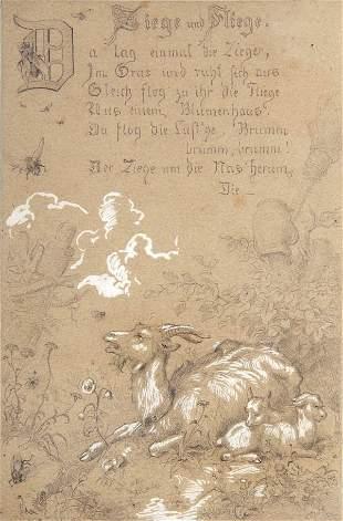 Gustav Süs, Ziege und Fliege, um 1860