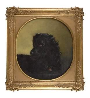Unbekannter Münchener Maler, Hundebildnis, 1868