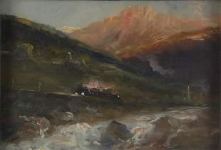 Heinrich Richard Reder , 'Alpenglühen', um 1880
