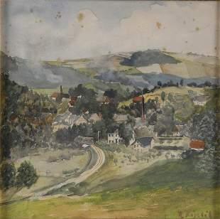 Rudolf Köselitz, Dorflandschaft, um 1900
