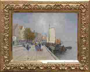 Jakob Wagner attributed, Harbour Scene, around 19