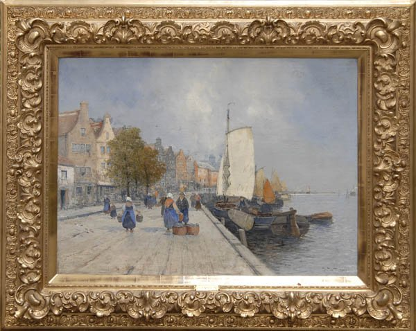 19: Jakob Wagner   attributed, Harbour Scene, around 19