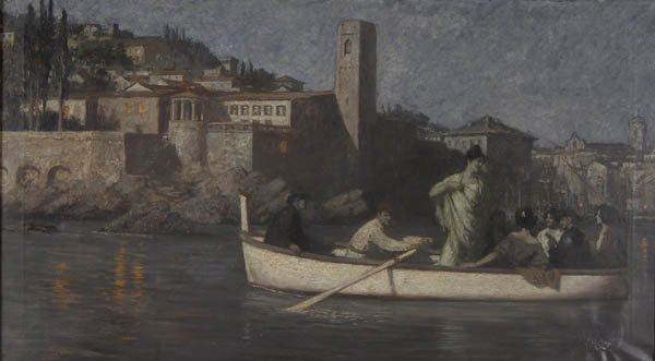 24: Hans Deiters, Boat-Rowing at Night, around 1900
