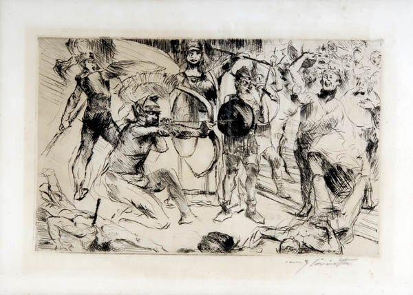 41: Lovis Corinth, 'Odysseus und die Freier', 1919