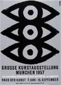 163: Ernst Klinger, Plakat 'Grosse Kunstausstellung Mün