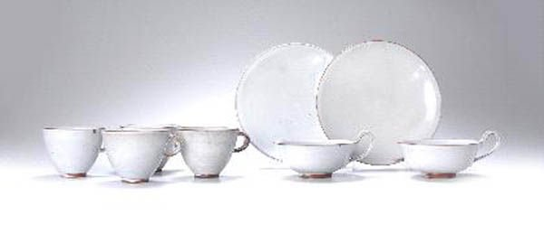 1019: Otto Lindig, Dornburg, Vier Kaffeetassen, 1923