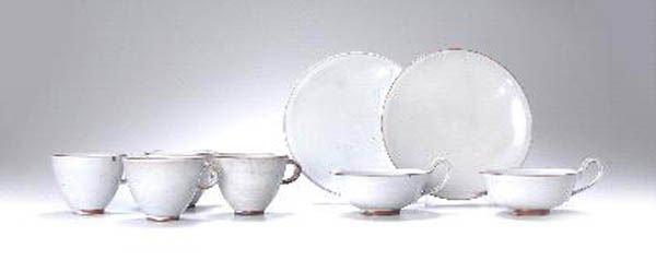 1020: Theodor Bogler, Paar Teetassen mit passenden Gebä