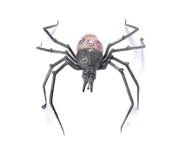4: Murano, Italy, Spider as light object, ca. 1920