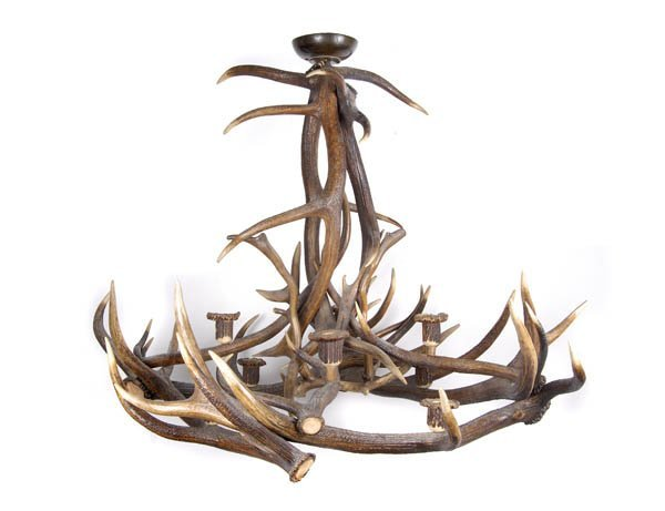 7: Southern Germany, Antler ceiling lamp, ca. 1890