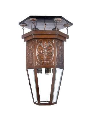 Vienna, Austria, Ceiling Lamp, around 1910