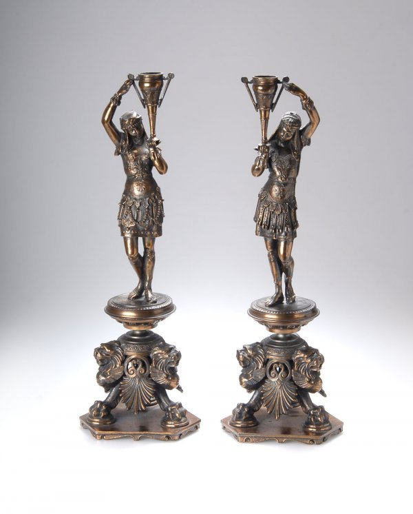 1024: France, Two Figural Candle Holders, around 1880