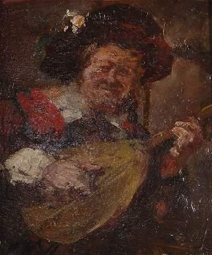 Rudolf Wolf, Lautenspieler, um 1900