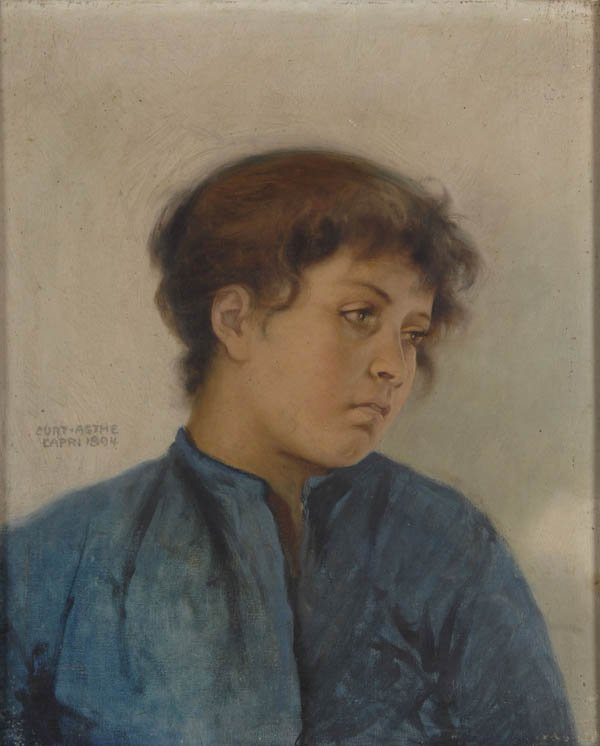 10: Curt Agthe, Portrait of a Girl, 1894