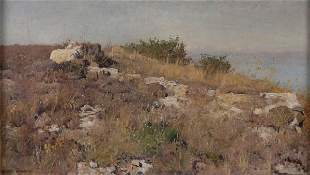 Eugen Bracht, 'Vordergrund am Mittelmeer', (Foregro