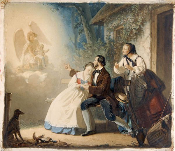 13: Paul Buerde, Apparition of the Angel, 1859