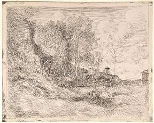 Jean-Baptiste-Camille Corot, 'Souvenir d'Ostie', 18