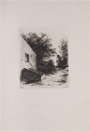 Adolph Menzel, 'Der Hof mit der Senkgrube', 1843