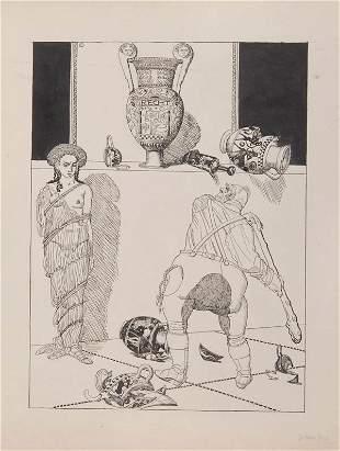 Julius Diez, 'Der Gast in Griechenland', um 1910