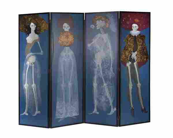 Leonor Fini, Paravent 'Metamorphosis of a Woman',