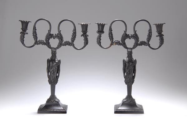 1009: Royal Prussian Founderies, Pair of Candle Stick H