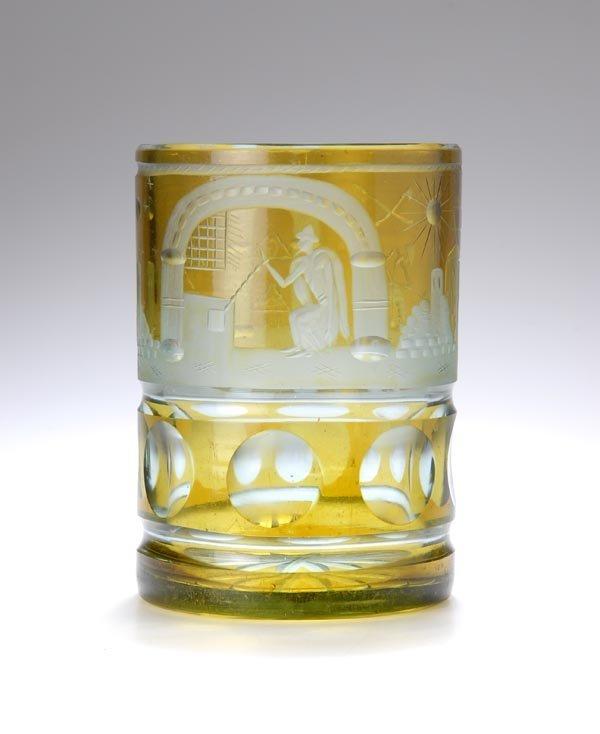 20: Bohemia, Free mason glass, ca. 1900
