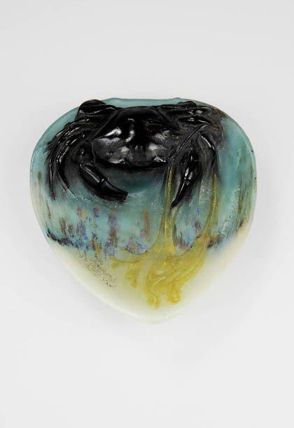 494: Henri Bergé, Nancy, Bowl with crab, ca. 1920