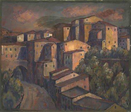 2: Fritz Berz, Dorf in Italien, um 1930