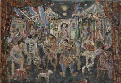 3: Fritz Berz, Zirkusszene, um 1930