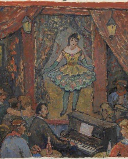 5: Fritz Berz, Sängerin auf einer Schwabinger Bühne, um