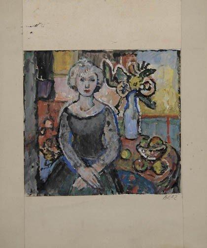 8: Fritz Berz, Porträt der Ehefrau Katharina, um 1925
