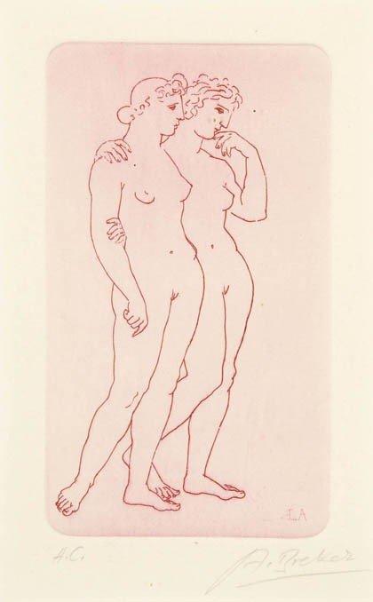 12: Arno Breker, Zwei Frauen, um 1930