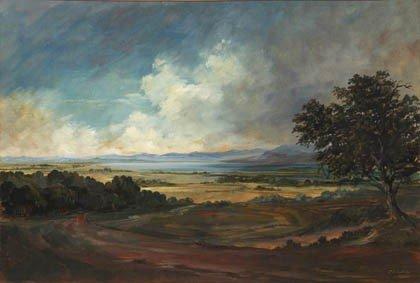 15: Paul Bracchetti, 'Chiemseelandschaft', um 1930