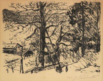 16: Lovis Corinth, 'Frühling am Walchensee', 1922