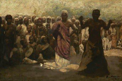 23: Unbekannter Künstler, Orientalen, 1920