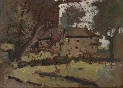 24: Hugo von Habermann, 'Schloss Unsleben', um 1920