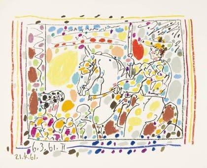 350: Pablo Picasso, 'A Los Toros', 1961