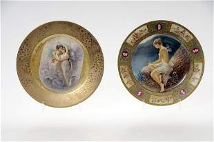 Porzellanmanufaktur Schlaggenwald, Bildteller, um 1