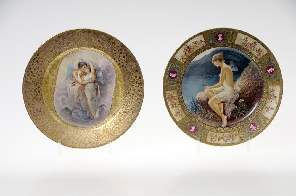15: Porzellanmanufaktur Schlaggenwald, Bildteller, um 1
