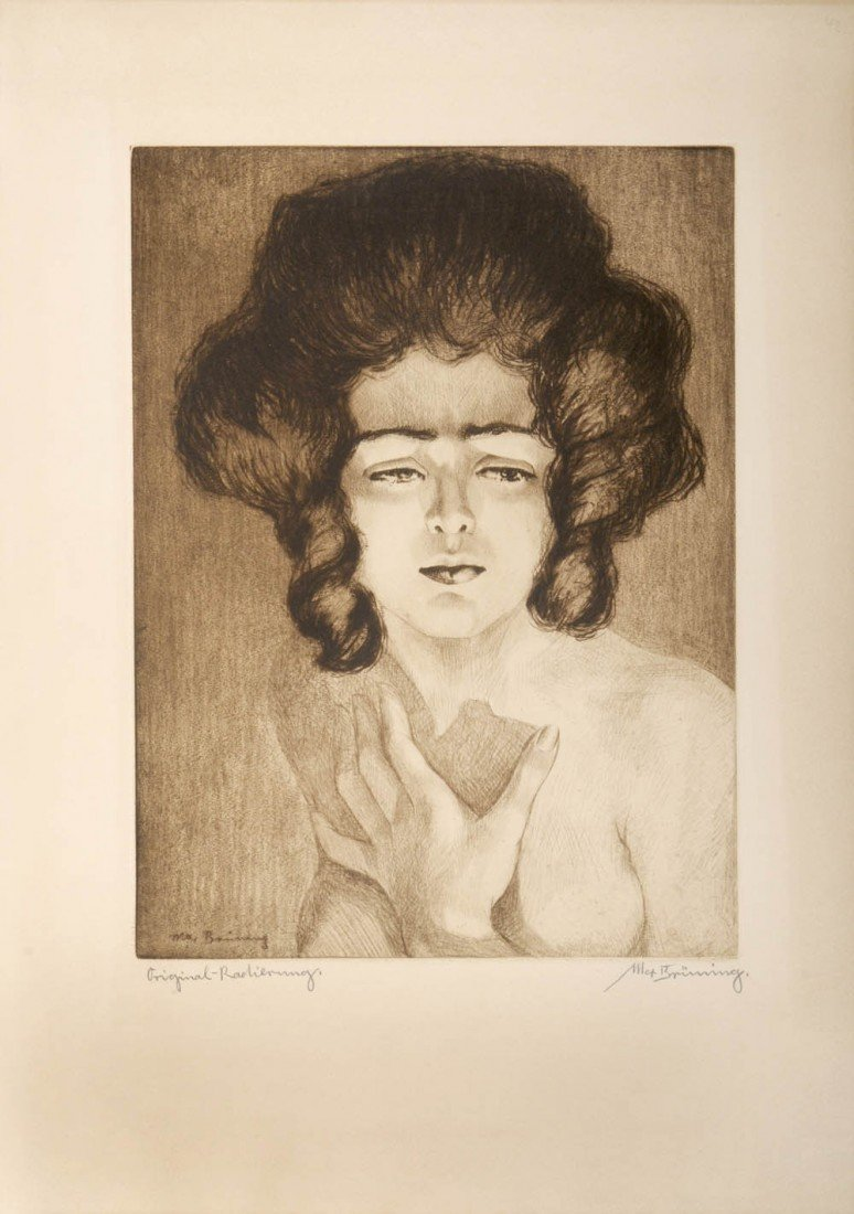 7: Max Brüning, Frauenkopf, um 1915