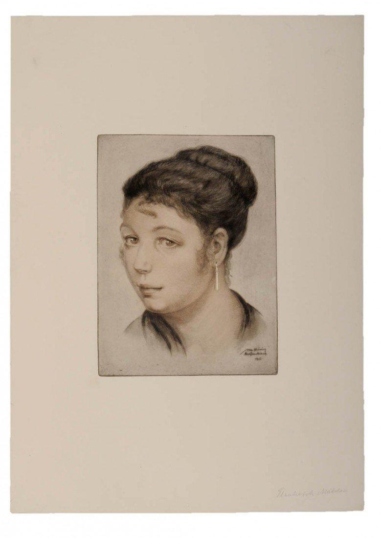 9: Max Brüning, Französisches Mädchen, 1916