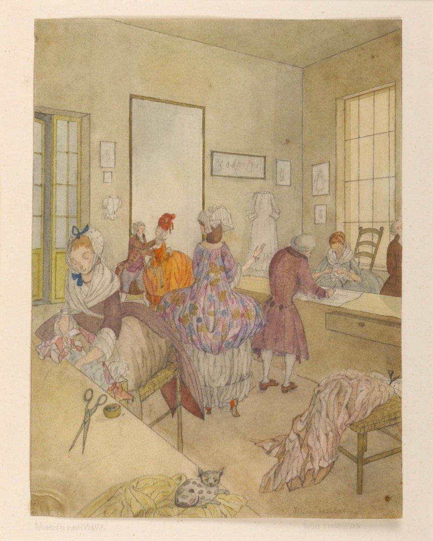 11: Félice Desclabissac, Schneiderwerkstätte, um 1900