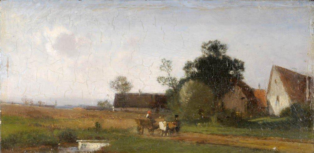15: Heinrich Deuchert, Chiemgaulandschaft, um 1880