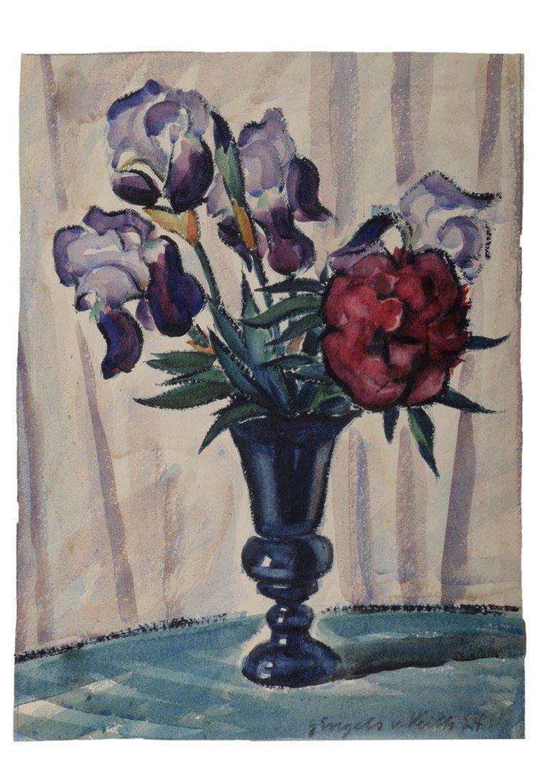 16: Gustava Engels von Veith, Drei Blumenstilleben, 192