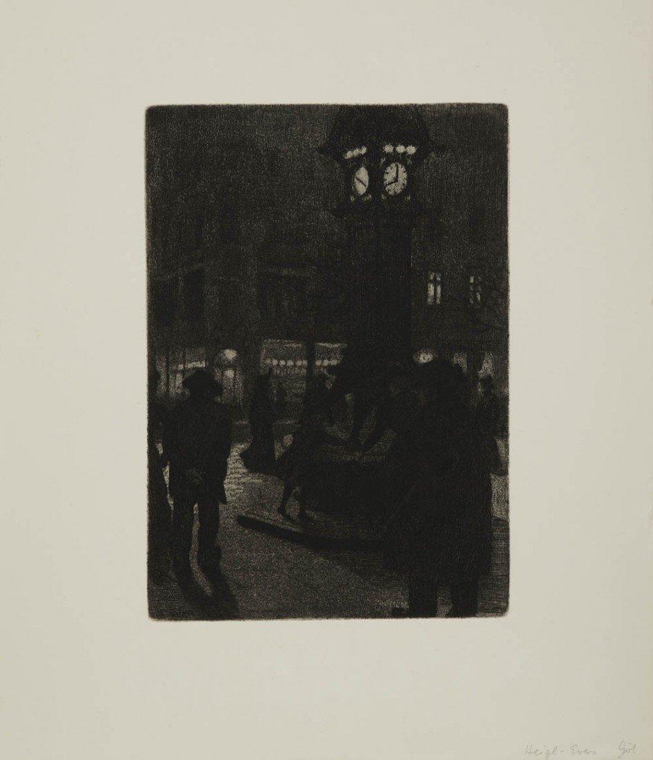 17: Ernst Eitner, Street scene, around 1880