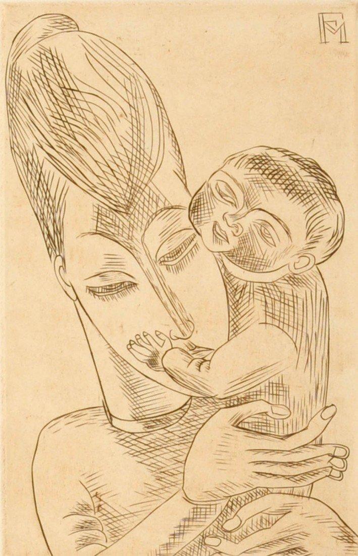 19: Conrad Felixmüller, 'Der Sohn' (Meine Frau mit mein