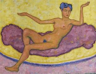 Gustav Gildemeister, Sitzender weiblicher Akt, 1909
